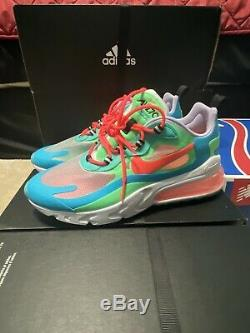 Nike Air Max 270 React Blue Green Pink White AT6174-300 Women's Size 8