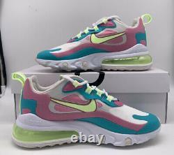 Nike Air Max 270 React Women's Size Shoe CW7015-100 White Volt Green Pink