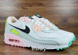 Nike Air Max 90 Easter Pastel White Green Pink Women's Size 9 CZ1617 100