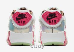 Nike Air Max 90 LX White / Pink / Illusion Green Cq2559 100 Uk 6, 7