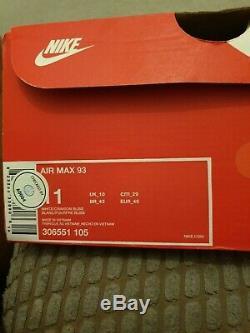Nike Air Max 93 Miami Vice Uk10 EUR 45 white green pink 1 80 90 rare