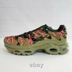 Nike Air Max Plus Tn Digi Camo Mens Shoes Olive Green Pink AJ4858-200 NEW Multi