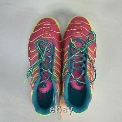 Nike Air Max Plus Volt Green Pink Blast CW5840-700 Boy's 5.5Y /Women's size 7