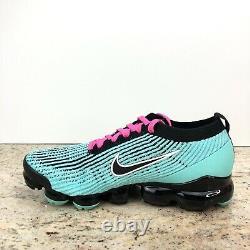 Nike Air VaporMax Flyknit 3 South Beach Mens 15 Green Pink Black AJ6900 323