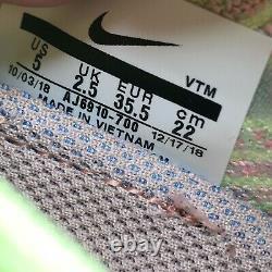 Nike Air Vapormax Flyknit 3 Pink/Green Lime/Vapor Yellow AJ6910-700 WMNS Sz 5