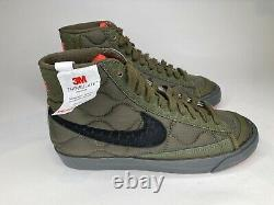 Nike Blazer Mid 77 ID Green Black Pink Insulated DA7576 991 Womens Size 7.5