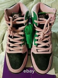Nike Dunk High Pro SB 9.5 INVERTED CELTICS pink rise lucky green TRUSTED SELLER