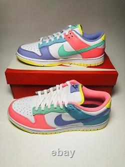 Nike Dunk Low SE Women's Easter Candy New Size 10 White/Green/Pink DD1872-100