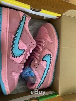 Nike Dunk Low Sb Greatful Dead Green Pink Blue Bear In Hand! Free Shipping