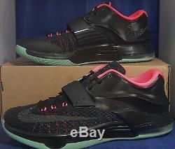 Nike KD VII 7 iD Black Pink Mint Green Yeezy Kevin Durant SZ 12 (704380-994)
