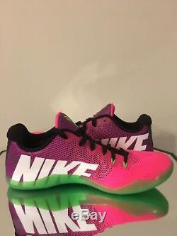 Nike Kobe XI Zoom 11 Low Mambacurial Basketball Shoe Sz 10 Pink/Green 836183-635