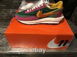 Nike LD Waffle Sacai Size US 7.0 Mens Shoes Pine Green/Pink