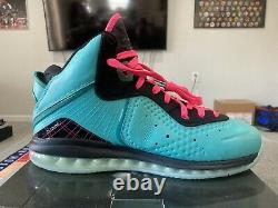 Nike Lebron 8 SOUTH BEACH 2021 Retro Filament Green Pink sz 11.5 CZ0328 400