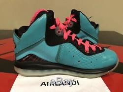 Nike Lebron 8 South Beach Size 8.5 Black Pink Flash Green 417098 401 Pre Heat