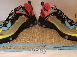 Nike React Element 87 AQ1090-700 Volt Aurora Green Racer Pink Men's Size 12