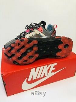 Nike React Element 87 AQ1090-700 Volt Aurora Green Racer Pink Men's Size 9.5 NEW