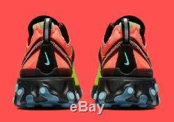 Nike React Element 87 HYPER FUSION VOLT GREEN HYPER PINK AQ1090-700 Men Running