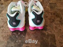 Nike Shox TL Pastel White Green Pink Running Shoes AR3566-102 Womens Size US 9