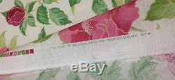 Nina Campbell Mai Fleuri Pink Green Floral Upholstery Linen Fabric 4 Yards 55w
