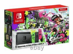 Nintendo Switch HAC-001 Splatoon 2 Console Bundle Neon Green/Pink Joy-Con