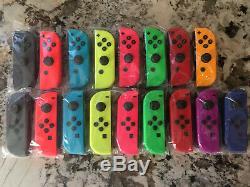 Nintendo Switch Joy Con Blue Red Yellow Green Pink Gray Odyssey Purple Orange