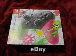 Nintendo Switch Splatoon 2 Limited Edition 32GB Green/Pink with controller