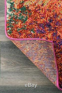 NuLOOM Contemporary Modern Abstract Area Rug in Pink, Blue, Orange, Green Multi