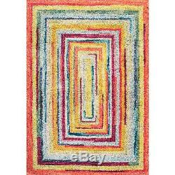 NuLOOM Contemporary Modern Multi Area Rug in Yellow, Pink, Blue, Green
