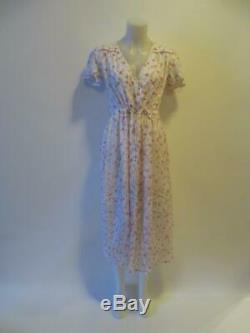Nwt Womens Christy Dawn Off White Pink/green Floral Dress Sz O/s