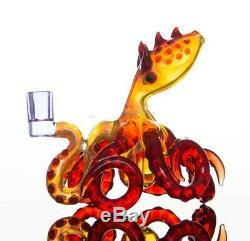 Octopus White Red Green Pink Hand Hookah Pipe Bong Tobacco Smoking Glass Bowl