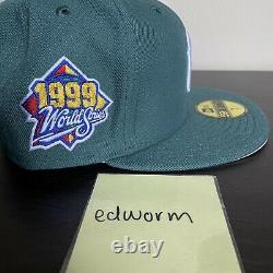 Pacsun New Era Fitted New York Yankees 1999 WS Green Pink Hat Club Size 7 1/4