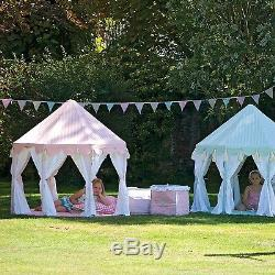 Pavilion Play Tent / Summer Play House with Floor Quilt by Win Green Green/Pink
