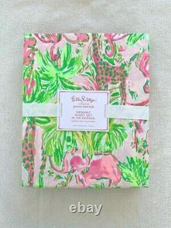 Pottery barn Kids Lilly Pulitzer Organic In On Parade Sheet Set Full Flamingo