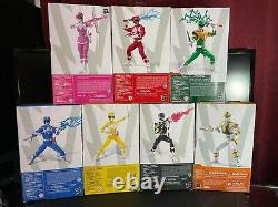 Power Rangers Lightning Collection Mighty Morphin Pink Red Green Black Yellow