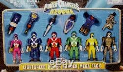 Power Rangers Lightspeed Rescue 5 Red Blue Yellow Pink Titanium Green New SEALE