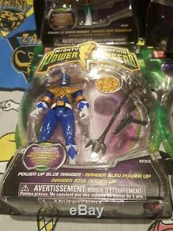 Power Rangers Mighty Morphin 2010 power up set of 6 green pink yellow blue black