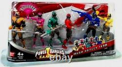 Power Rangers Samurai 4' Gold Pink Red Green Blue Yellow New Factory Sealed 2011