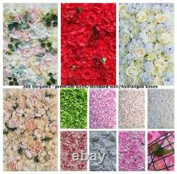 Premium Rose Flower Wall Panels Artificial Silk Wedding Decor Party Home Floral