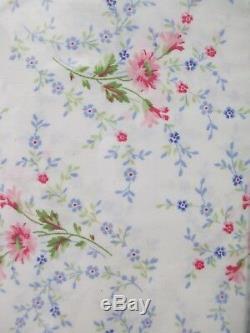 RALPH LAUREN Cotton Shabby Cottage White Pink Green Floral Sheet Set King