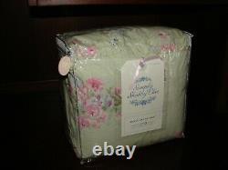 Rachel Ashwell Simply Shabby Chic Duvet Cover & 2 Shams KING Pink Floral Green