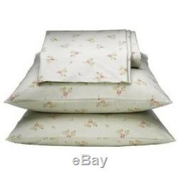 Rachel Ashwell Simply Shabby Chic GREEN COTTAGE ROSE Pink Floral FULL Sheet Set