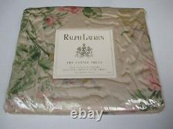 Ralph Lauren THERESE Floral Pink Green Fitted Sheet Full
