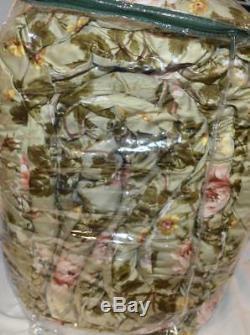 Ralph Lauren YORKSHIRE ROSE FLORAL Full/ Queen Comforter NEW Green Pink Gold