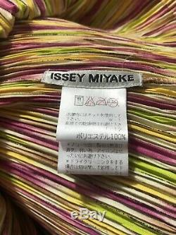 Rare Vtg Issey Miyake Pink & Green Pleated Skirt Set S