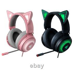 Razer Kraken Kitty Ultralight Wired Stereo Gaming Headset with RGB lighting