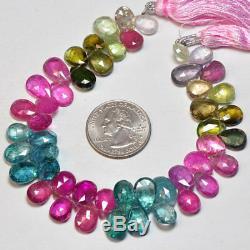 Rubellite Pink Indicolite Blue Green Purple Tourmaline Large Pear Briolette Bead