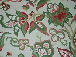 SCHUMACHER CURTAIN FABRIC DESIGN Alexandra Vine 5 METRES PINK AND GREEN