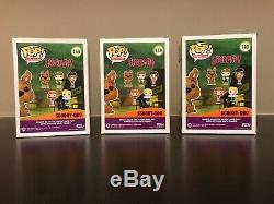 SDCC 2017 Funko Scooby Doo set Green Blue and Pink