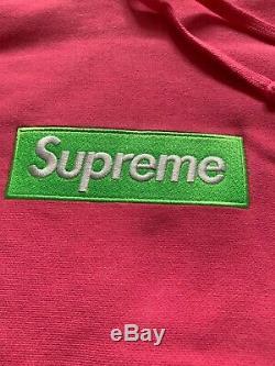 SUPREME BOX LOGO HOODIE 17fw GREEN BOX LOGO SIZE XL PINK