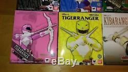 S. H Figuarts Sentai Power Rangers Zyuranger Green White Red Pink Black Blue